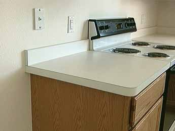 Delicieux FLAT LAID COUNTERTOPS Can Be Fabricated In A Shop Or On Site. See PLASTIC  LAMINATE COUNTERTOP And POST FORMED COUNTERTOP.